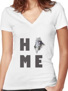 """Maine """"HOME"""" Women's Fitted V-Neck T-Shirt"""
