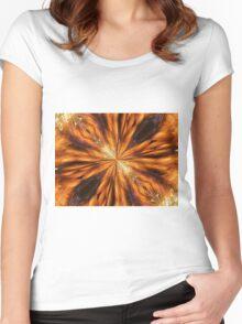 Golden Burst Women's Fitted Scoop T-Shirt