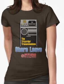 The Tricorder Transmissions - Shore Leave STLV50 Womens Fitted T-Shirt