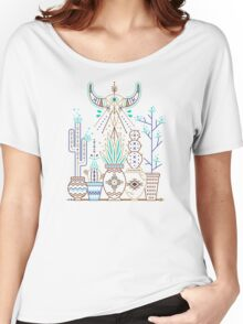 Santa Fe Garden – Turquoise & Brown Women's Relaxed Fit T-Shirt