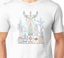 Santa Fe Garden – Turquoise & Brown Unisex T-Shirt