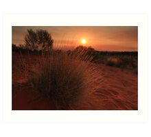 Outback Sunset Art Print