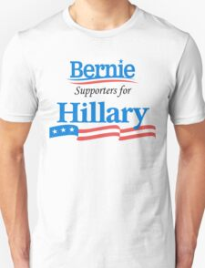 Bernie Supporters For Hillary (Black) Unisex T-Shirt