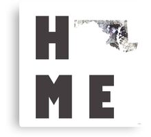 "Maryland ""HOME"" Canvas Print"