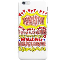 dont stop lyric drawing iPhone Case/Skin