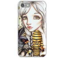 Living with Falcons iPhone Case/Skin