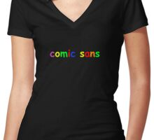 COMIC Women's Fitted V-Neck T-Shirt
