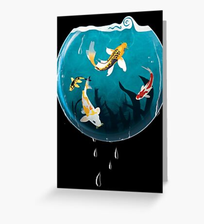 Koi Bowl Greeting Card