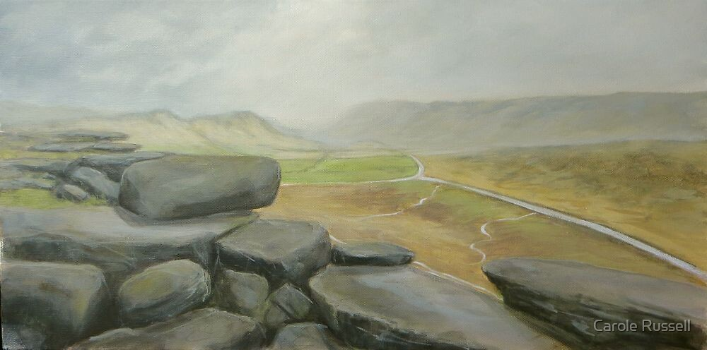 Wet day at Stanage Edge by Carole Russell