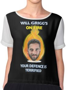 Will Grigg's on Fire Your Defence is Terrified (no background) Chiffon Top