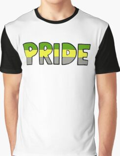 Lithromantic Pride Flag Graphic T-Shirt
