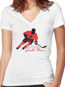 Gordie Howe Tribute - Mr. Hockey RIP Women's Fitted V-Neck T-Shirt