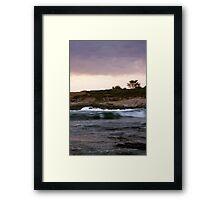 Soft Waves, Monterey CA Framed Print