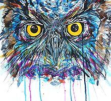 'Owl Insanity II' 2014 by Kim Lintern