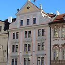 Prague: facade in soft pink by bubblehex08