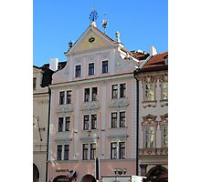 Prague: facade in soft pink Photographic Print
