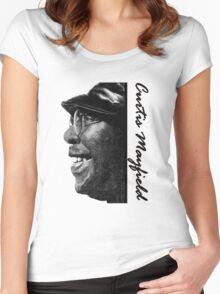 Curtis Mayfield  Women's Fitted Scoop T-Shirt