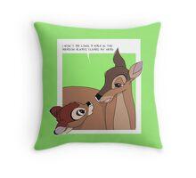 Bambi's Mum Throw Pillow