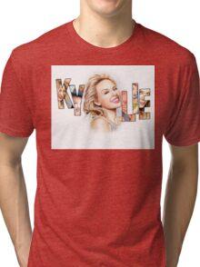 Kylie Minogue - Portrait Art Tribute Tri-blend T-Shirt