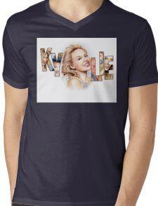 Kylie Minogue - Portrait Art Tribute Mens V-Neck T-Shirt
