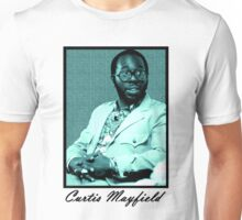Curtis Mayfield blue Unisex T-Shirt