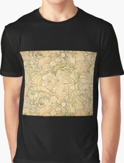 'Peonies' by Alphonse Mucha (Reproduction) Graphic T-Shirt
