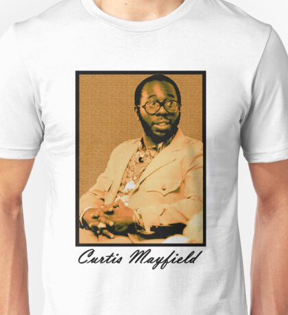 Curtis Mayfield Orange Unisex T-Shirt