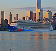 The Cruise Ship Norwegian Breakaway on the Hudson River by pmarella