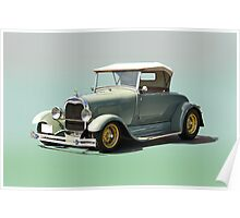 1929 Ford Model A Roadster Poster