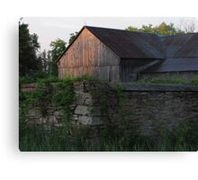 Barn in the Morning Sunrise Canvas Print