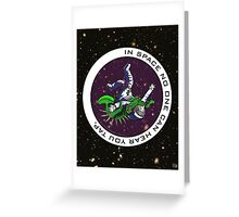 Jiu-Jitsu - Alien Vs Astronaut Greeting Card
