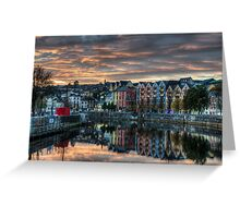 Cork Sunset Greeting Card