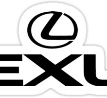 lexus black logo Sticker
