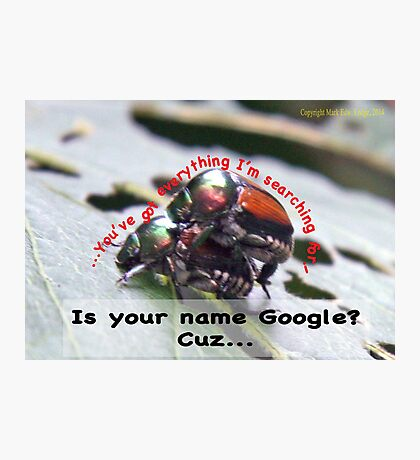 Is your name Google? Photographic Print