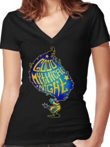 GMN - Good Mythical Night Women's Fitted V-Neck T-Shirt
