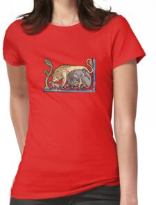 Medieval lions Womens Fitted T-Shirt