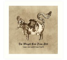 The Winged Cow From Hell Art Print