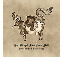 The Winged Cow From Hell Photographic Print