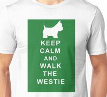 KEEP CALM WALK THE WESTIE Birthday Christmas etc. Unisex T-Shirt