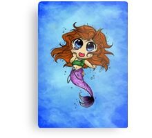 Chibi Mermaid Metal Print