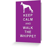 KEEP CALM WALK THE WHIPPET BIRTHDAY CHRISTMAS  Greeting Card