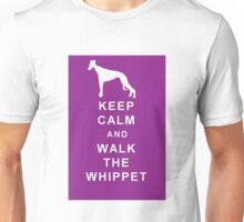 KEEP CALM WALK THE WHIPPET BIRTHDAY CHRISTMAS  Unisex T-Shirt