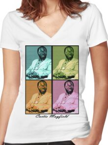 Curtis Mayfield Quatro Women's Fitted V-Neck T-Shirt