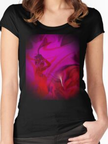 Woman in love - ABSTRACT-ART + Product Design Women's Fitted Scoop T-Shirt