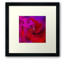 Woman in love - ABSTRACT-ART + Product Design Framed Print