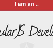 Hello I'm an AngularJS Developer Sticker