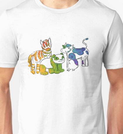 Black and White and Rainbow All Over Unisex T-Shirt