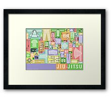 Jiu-Jitsu Gear Layout Framed Print