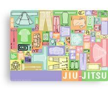 Jiu-Jitsu Gear Layout Metal Print