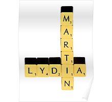 Lydia Martin   Scrabble Poster